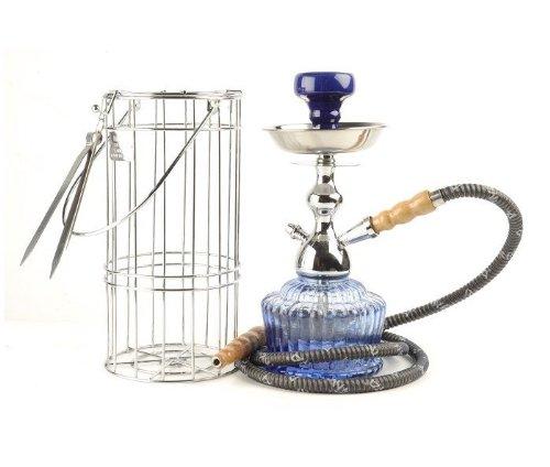 MYA QT 14' Hookah in Silver cage (Blue)