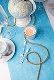 Vlies Tischläufer, 1 Rolle 25 m x 30 cm, Dekostoff | Tischband | Tischdeko Hochzeit, Taufe, Kommunion | Deko Geburtstag (Aqua) - 2