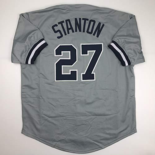Unsigned Giancarlo Stanton New York Grey Custom Stitched Baseball Jersey Size Men's XL New No Brands/Logos