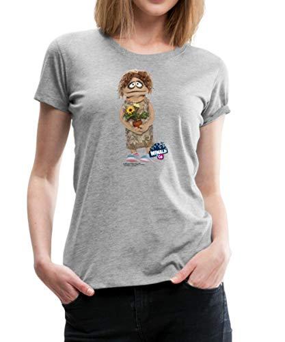 Wiwaldi Und Co Charming Traudl Frauen Premium T-Shirt, M, Bordeauxrot meliert