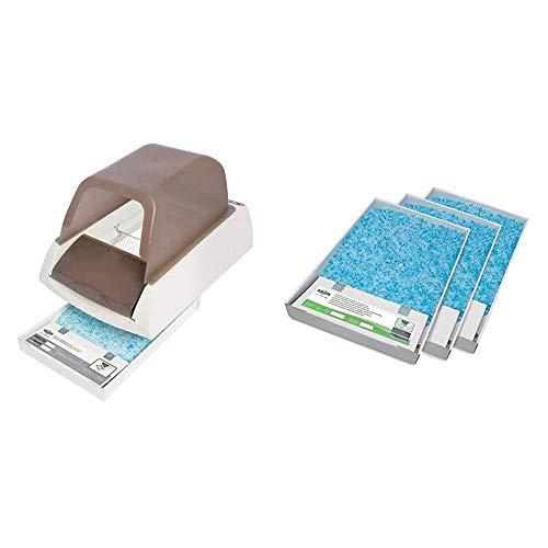 PetSafe - Bac à Litière Automatique autonettoyante électrique pour Chat + Bac de Rechange Litière Absorbante et Anti-Odeur Scoopfree Cristal Bleu pour bac à litière autonettoyant ScoopFree