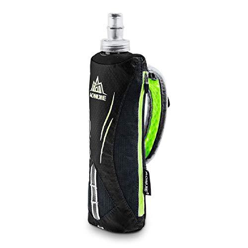 TRIWONDER Flaschenhalter mit 500ml Trinkflasche, Handheld Bottle für Laufen, Radfahren, Wandern, Camping (Schwarz)