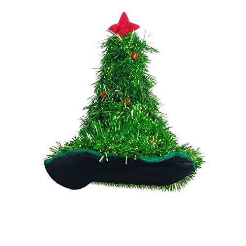 THEE Weihnachtsbaum Hut Tannenbaum Hut Weihnachtshut Weihnachtsmütze als Weihnachtsbaum Weihnachtsdeko