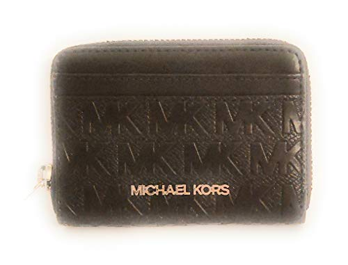 Michael Kors Billetera de Cuero Negro 11.5x9.5x3cm Nuevo