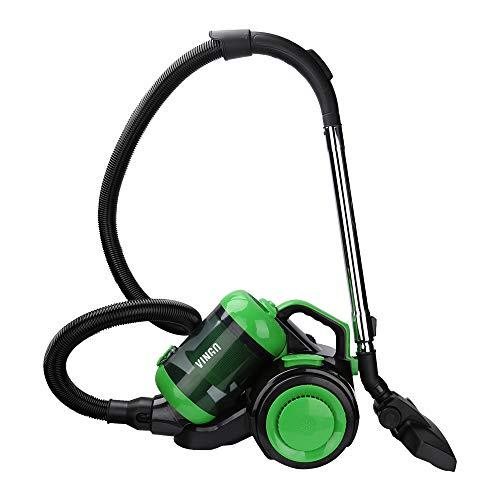Hengda Aspiradora con depósito sin bolsa | Potencia máxima: 900 vatios, volumen del contenedor de polvo: 3 litros | Filtro de higiene lavable aspiradora de alto rendimiento | Verde
