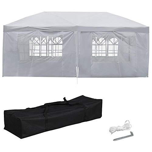 YAHEETECH 10 x 20ft Pop Up Canopy Tent Heavy Duty Gazebo Party Commercial Waterproof Tent Canopies Camping Outdoor Patio Shelter