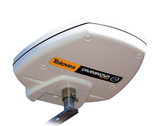 Televes OMNINOVABOSSLTE Exterior Mono 30dB - Antena (Exterior, Blanco, Mono, 47-790 MHz, 30 dB, DAB, UHF, UKW, VHF)