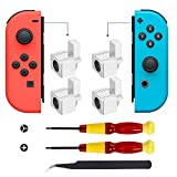 MOYEEL 2 Pairs Replacement Metal Lock Latches for Nintendo Switch Joy-Con Controller,Lock Buckles Repair Tool Kit for Switch Joy-Cons - Include Tri-Wing & Cross Screwdriver Tool + 4 Pcs Y Screws