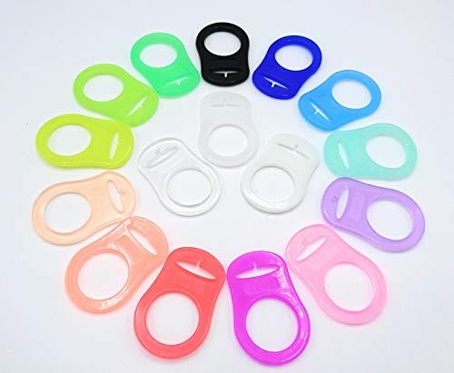 Silikonring (Adapter) für Schnuller - Schnullerhalter für Baby Schnullerketten aus weichem Silikon - 100{e9b89814461bbff2a3246dcc2f6175f68e1ced7b8cf04544f43beb1b026ecd17} BPA Frei (Durchsichtig)
