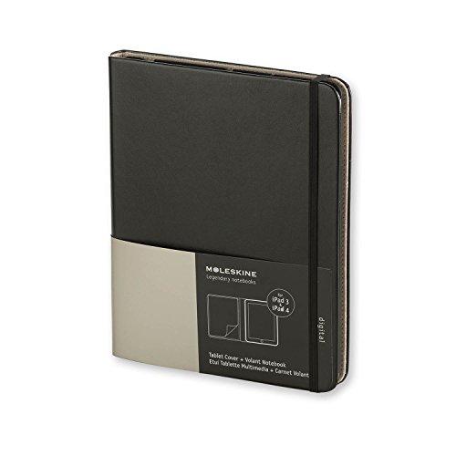 Moleskine ET2IPAD3SLA - Funda iPad 3 y 4, con cuaderno'Volant', negro