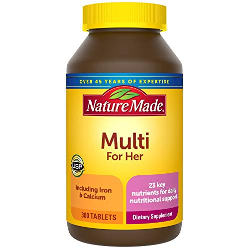 Nature Made Women's Multivitamin Tablets, 300 Count for Daily Nutritional Support