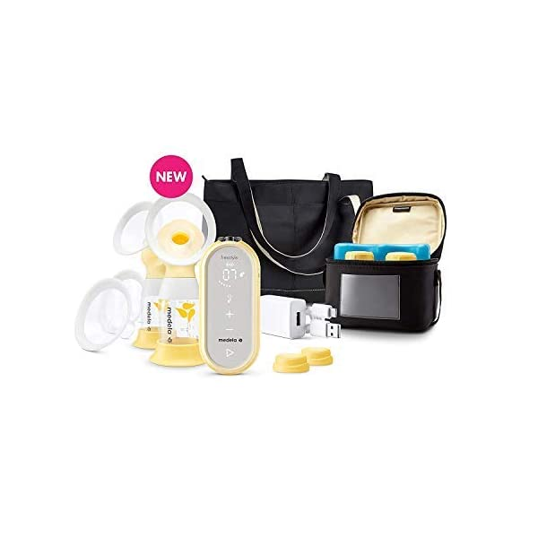 Medela Freestyle Flex Breast Pump, Closed System Quiet Handheld Portable Double Electric...