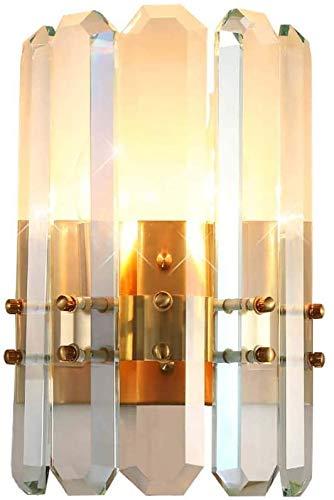 YANQING Duurzame Postmodern Licht Crystal Wandlamp Slaapkamer Nachtlampje Sfeer Koperen Kamer Woonkamer Aisle Amerikaanse Noordse Lampen 130 * 160(mm) Verlicht Uw Leven