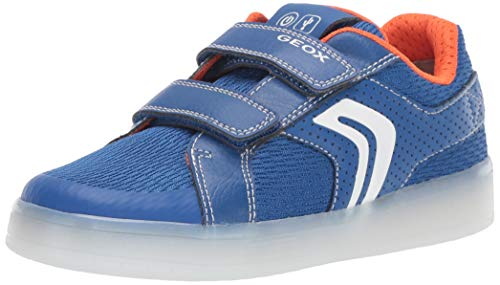 Geox Jungen J KOMMODOR BOY A Sneaker Blau (Royal/Orange C0685) 31 EU