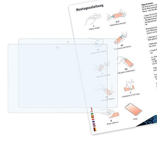 Bruni Schutzfolie kompatibel mit Lenovo Tab E10 Folie, glasklare Displayschutzfolie (2X)