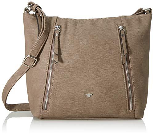 TOM TAILOR Umhängetasche Damen Carol, Beige (Taupe), 30x24x5.5 cm, TOM TAILOR Handtaschen, Taschen für Damen, klein