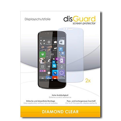 disGuard 2 x Bildschirmschutzfolie Archos 50 Cesium Schutzfolie Folie DiamondClear unsichtbar