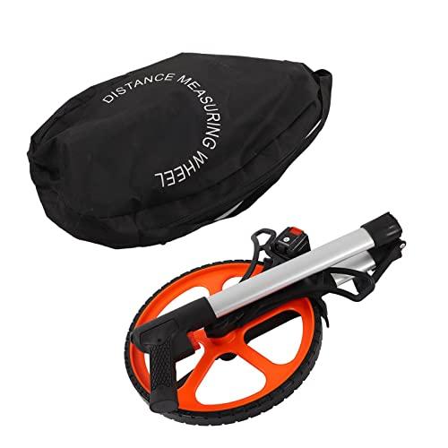 LANTRO JS - Professional Messrad Entfernungstrecken Messrad für Distanzen 0 bis 9.999 meter mit Zählerbeleuchtung Ständer und Tragetasche Handmessrad für Landmessung