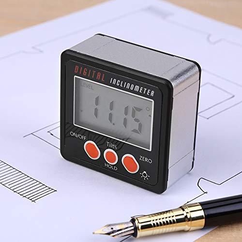 Digital Angle Meter, Horizontal Angle Meter Digital Protractor Inclinometer Electronic Level Box Magnetic Base Measuring Tools Black