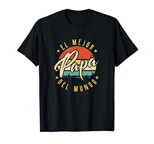 Hombre El Mejor Papá Del Mundo Día del Padre Vintage Regalo Camiseta