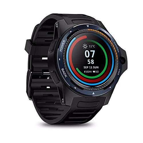 Dual System, Smart Watch 4G LTE Dual Chip Smart Bracciale da 1,39' AOMLED 8,0 MP fotocamera frontale 2 GB + 16 GB ibrido -GPS / GLONASS / Beidou Sports Tracker