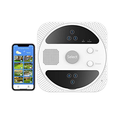 tolviviov Smart WiFi Sprinkler Controller, Smart Irrigation Controller Wireless, Outdoor Smart Sprinkler Controller for Gardens, Lawns, Greenhouses and Farms.