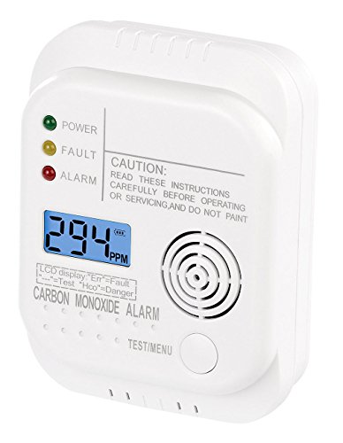 VisorTech Gasmelder: Kohlenmonoxid-Melder mit LCD-Display, gem. DIN EN 50291-1 (Gaswarn)