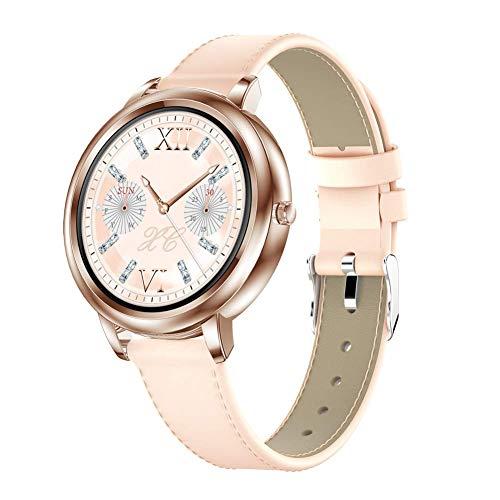 JIAJBG Reloj Inteligente Noble Elegante Mk20 para la Mujer, 1,09' Pantalla Táctil Completa Ip68 a Prueba de Agua Smartwatch con el Sueño Del Ritmo Cardíaco Rastreador de Ejercicios,