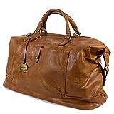 Borsone uomo da viaggio cognac con manici tracolla borsa vintage grande palestra dottore lavoro eco pelle valigia a mano casual voli aereo ecopelle Cuoio
