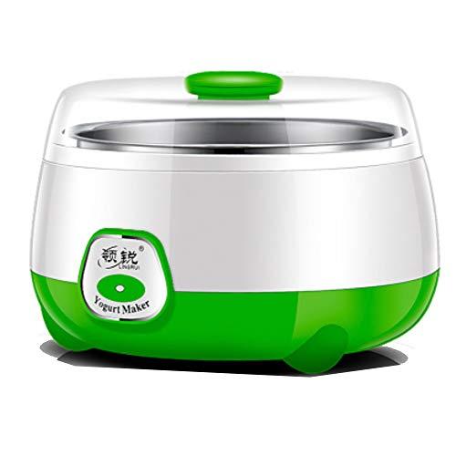 有钱花电子商务 Kleine Haushaltsgeräte Tasse Joghurt Maschine Natto Reis Wein Maschine 1 Liter Edelstahl Haushalt Mini Konstanttemperatur Joghurt Maschine vollautomatisch grün