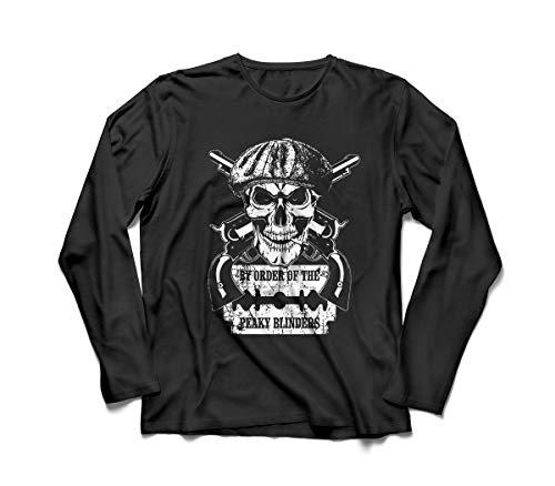 Camiseta/Camisa Manga Longa Masculina Peaky Blinders Série Tamanho:M;Cor:Preto