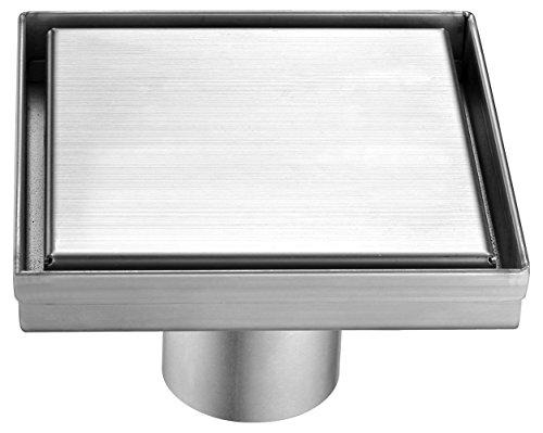 Alfi marca absd55b 5pulgadas x 5pulgadas moderno cuadrado acero inoxidable ducha desagüe...