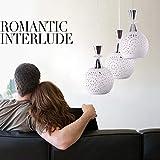 Scra AC Plafoniera Led Lampadario Moderno Minimalista Bianco Hollow Ceramica Vetro Sferico Personalità Creativa Lampadario Ristorante Soggiorno Camera Da Letto Lampada E27* 3 (Colore: B)