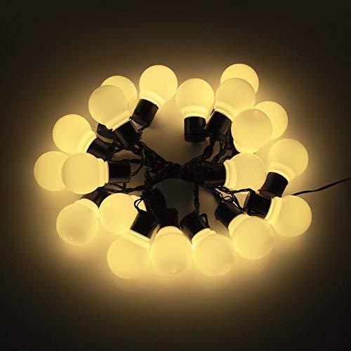 Bulbs Screwled Light Bulb,Vintage Bulbs Lamp 10/20 Led Globe Garland String Light Garden Fairy 220V Plug Lights for Wedding Xmas Party-Warm White Milky_2.5M 10 Bulbs