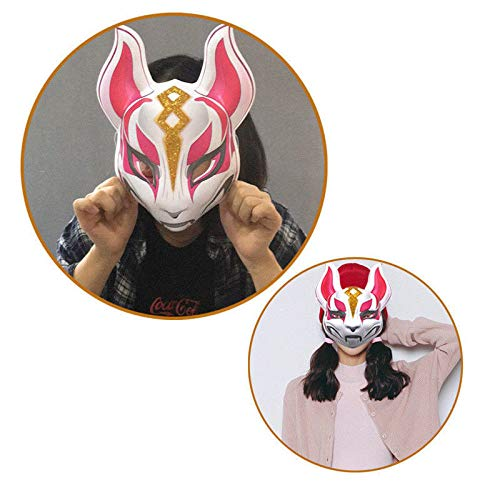 LLWGNZM Maske-Halloween Cool Stylise Kunststoff Fox Drift Haut Party Maske