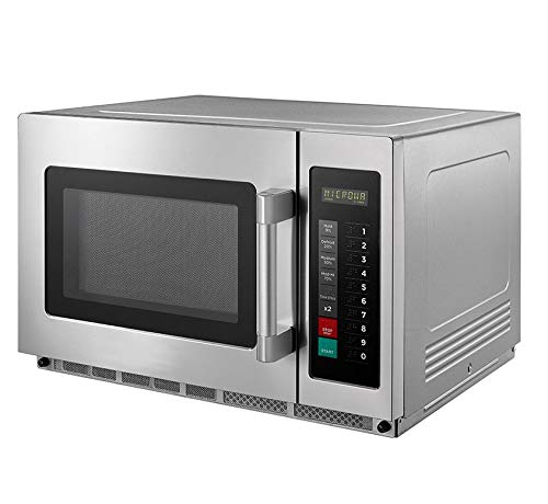 Commercial Catering Microwave Oven 1800W Stainless Steel Digital Auto Programmable Commercial Kitchen, Catering…