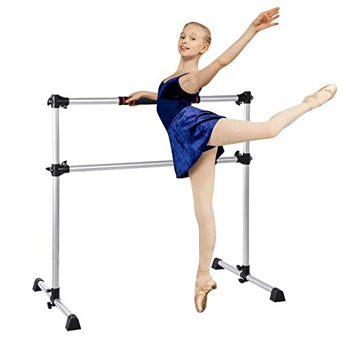OneV FT Ballet Barre Equipo de entrenamiento Bundle Altura Ajustable Portátil Doble Independiente Ballet Fitness Stretch, con bolsa de transporte y almohadilla de espuma antideslizante
