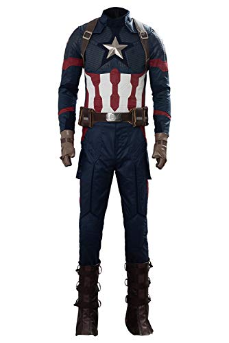 Disfraz De Hombre Trajes De Cosplay De Superheroes Abrigo Pantalon Cinturon Cubierta De Pie Conjunto Completo Disfraces De Carnaval, XXL