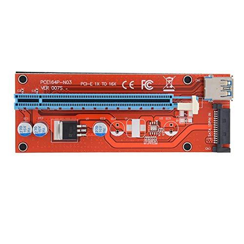 100PCS 007S Riser PCI-E PCI Express 1x to 16x Riser Card Adapter Extender USB 3.0 Cable SATA Power Supply for BTC Mining Machine