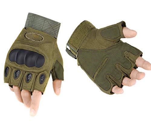 ThreeH Handschuhe Motorradhandschuhe für Paintball Airsoft Militär MTB Schutzhandschuhe mit harten Knöchel Herren GL07M,Green