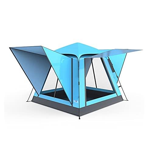 LZL Tenda Tenda per Esterni a Prova di Pioggia UV, Tenda Automatica Apertura Rapida Tenda da Campeggio 3-4 Persona Family Party Party Viaggi Pesca Tende da Campeggio (Color : Blue)