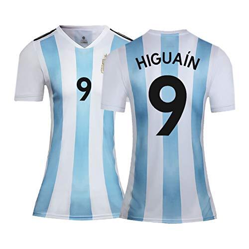 XH Frauenfußbälle Trikot Gonzalo Higuaín # 9, Trainingskleidung Erwachsenengröße, S-2XL (Color : Blue, Size : XX-Large)