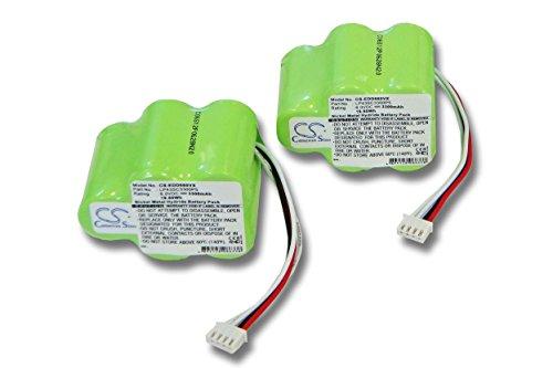 vhbw 2X Ni-MH Batteria 3300mAh (6V) per Aspirapolvere Hoover Robot RVC0010, RVC0010, RVC0011, RVC0011-001 Come 945-0006, 945-0024, LP43SC3300P5