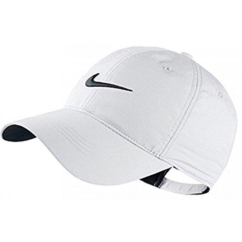 Nike Classic Golf Sun Cap Hat Dri-Fit Unisex Adjustable OSFM, Velcro Closure -White/Black