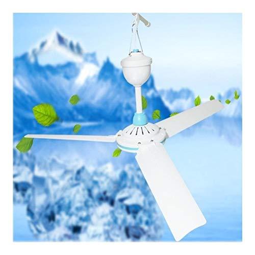 ZHANGAIGUO 6W Techo Ventilador Portátil, 3 Hojas De Energía Ahorro De Plástico Mini Ventilador De Techo For El Blanco del Hogar Camping