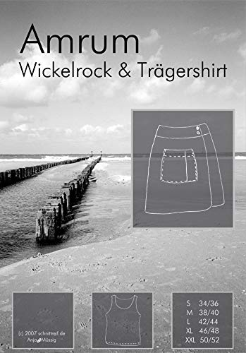 Farbenmix Amrum Schnittmuster (Papierschnittmuster für die Größen 34/36-50/52) Wickelrock und Trägershirt.