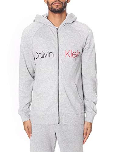 Calvin Klein Herren Kapuzen Sweatjacke grau - L