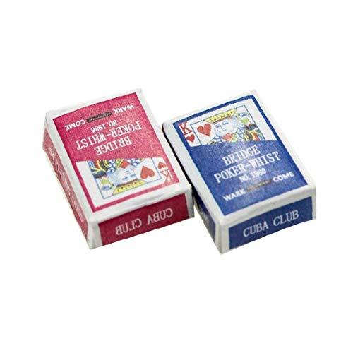 linjunddd 1 Juego Mini Naipes Juegos De Poker Naipes 1/12 Miniatura De Muñecas De Juguete Decoración del Dollhouse Accesorios Color Al Azar Conveniente Suministro