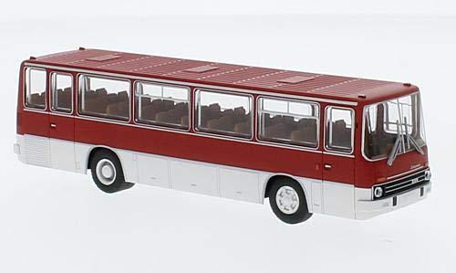 Ikarus 255.72 Ãœberlandbus, Rot/Weiss, 1972, Modellauto, Fertigmodell, Brekina 1:87