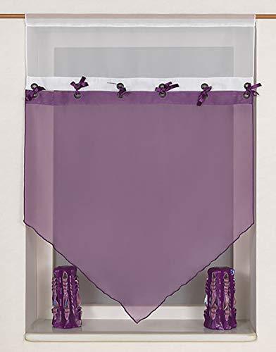 Startex 2192 60 x 90 cm Kuvertstore, weichfließendes Voilegewebe, Flieder, 60 cm x 90 cm